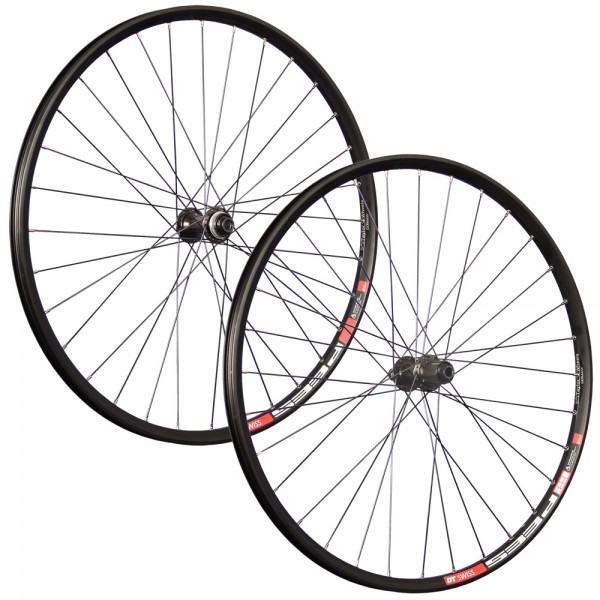29 inch wheelset DT Swiss double wall rim eyelet Shimano M6010-B disc black