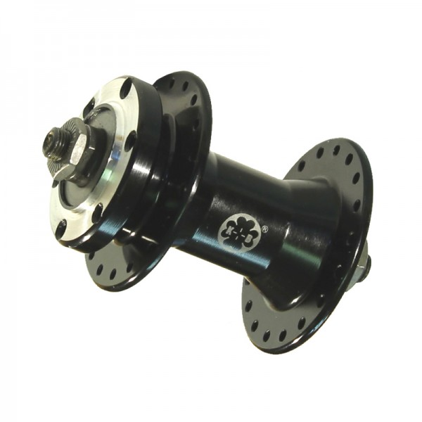 Front wheel hub disc quick release black 36