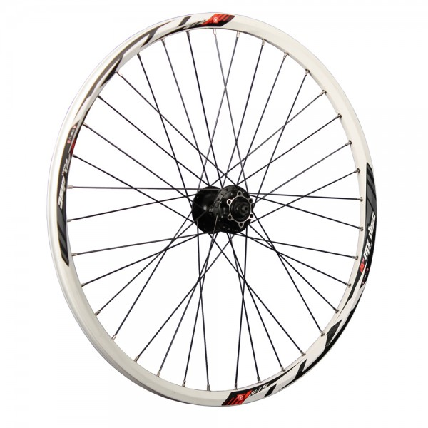 26 inch rear wheel Mach1 MX double wall Shimano FH-M475 Disc 6L white
