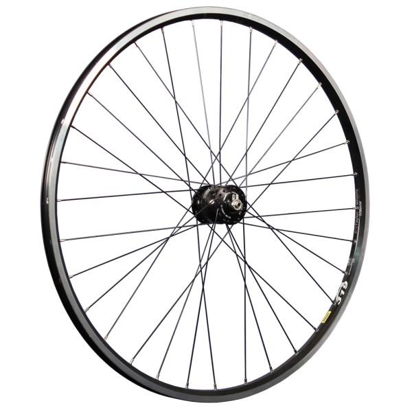 28 inch front wheel double wall rim Mavic eyelet SON 28 hub dynamo black