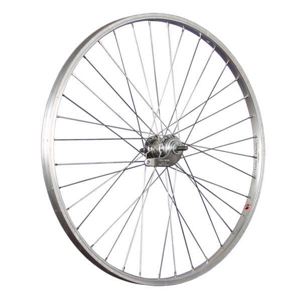26inch bike rear wheel aluminium coaster Dutchbike (590) silver