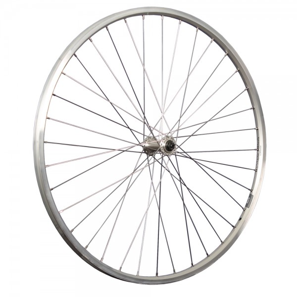 28inch bike front wheel ZAC19 with Shimano Tourney hub silver