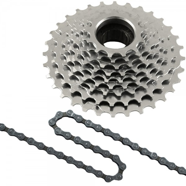 Replacement set 9 speed HG53 chain - freewheel 9 speed