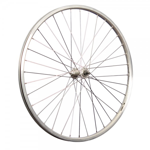 26inch bike front wheel double-wall stainless steel 559-19 silver