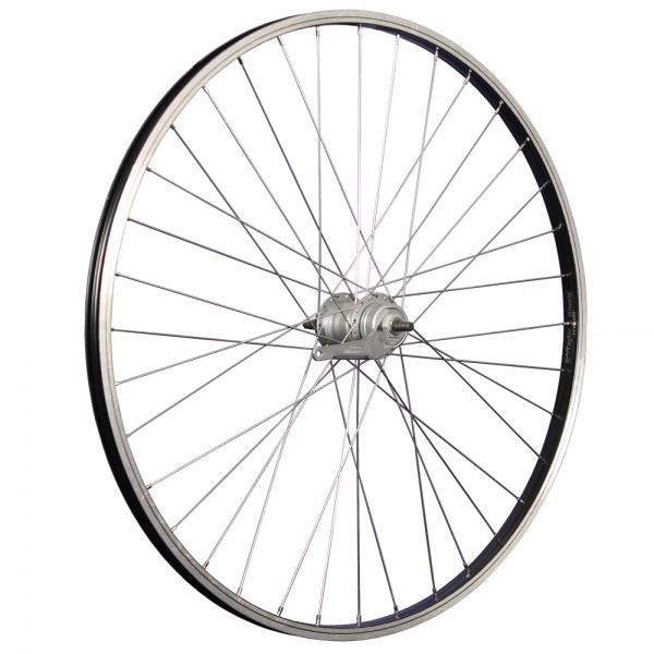 28 inch rear wheel aluminum rim Shimano Nexus 3-speed coaster black