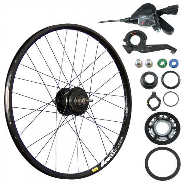 26inch bike rear wheel XM119D with Shimano Alfine hub black