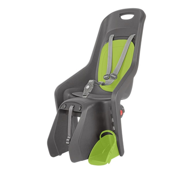 Bicycle child seat Bubbly Maxi FF X8 gray green carrier mounting