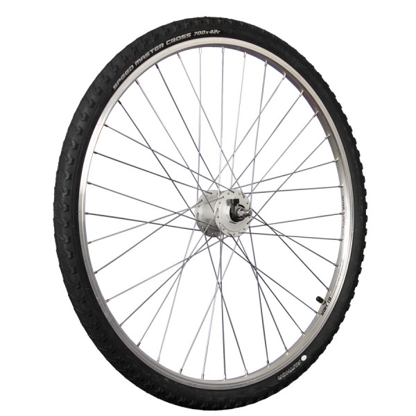 28 inch front wheel with Shimano Dynamo and mounted tires