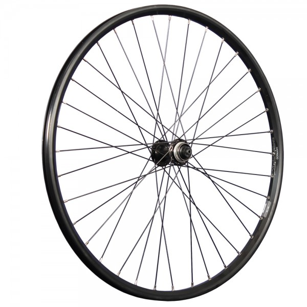 26inch bike front wheel Taurus with Shimano Deore Disc hub black