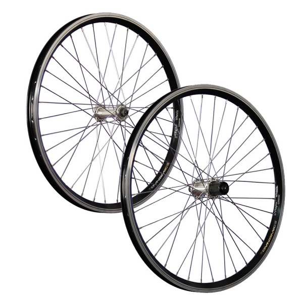 24 inch bicycle wheelset Dynamic 4 Shimano TX500 7-10 schwarz