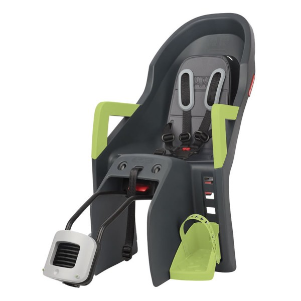 bicycle child seat Guppy Maxi plus FF RS gray green frame mounting