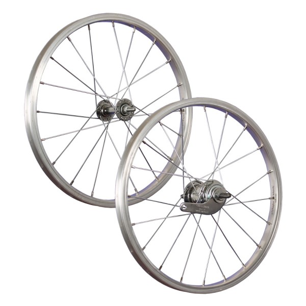 18inch bike wheel set aluminium coaster stainless steel 355-19 silver