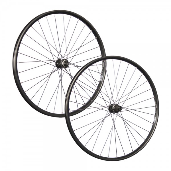 29 inch wheelset double wall rim eyelet Shimano MT400 disc black 110/148
