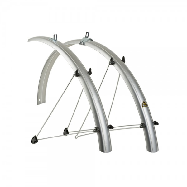 Mudguard set Author 28 inch bicycle set plastic silver 53mm