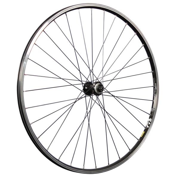 28 inch front wheel Mavic A119 eyelets Shimano HB-TX505 Disc CL black