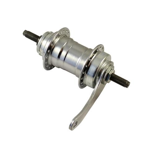 Rear wheel hub with coaster / back pedal brake silver 1 speed