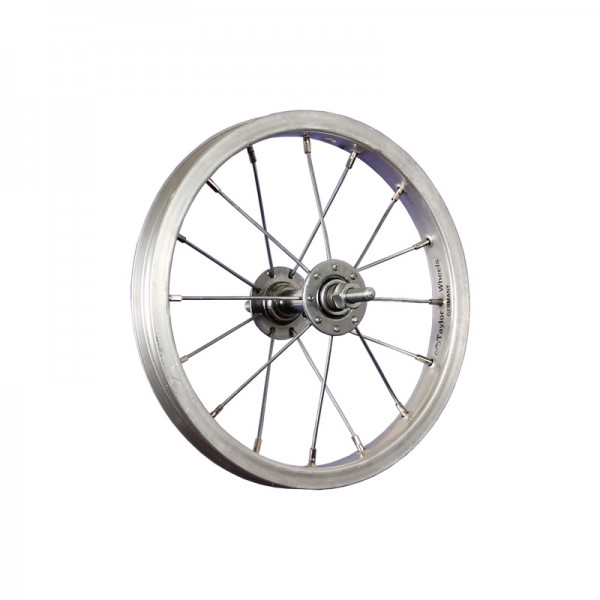 12inch bike front wheel aluminium stainless steel 203-19 silver