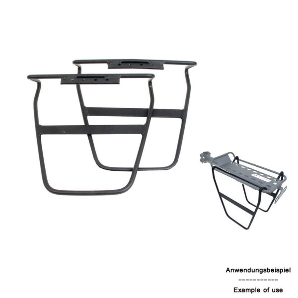 Bicycle bag holder ARC-S 149 for pannier carrier aluminum black