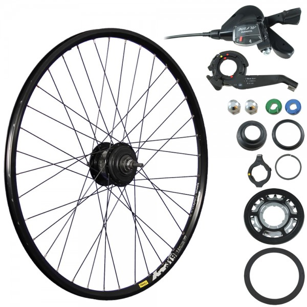 28/29 inch bike rear wheel XM319D ALFINE SG 7000 8 black