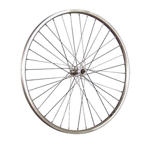 26inch bike front wheel double wall rim Schürmann YAK19 silver