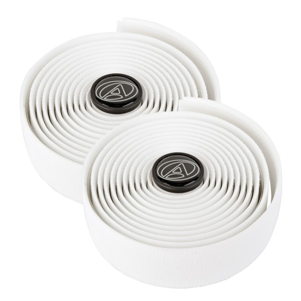 Bicycle handlebar tape AGR-E150 Gel 2x2m, 2 End caps, road bikes, white