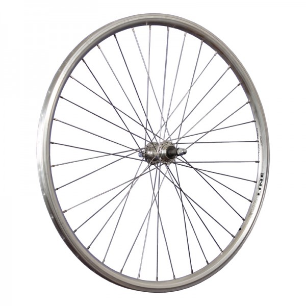 28inch bike rear wheel double wall Euroline stainless steel 622-19 silver