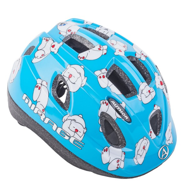 Bicycle helmet Mirage children helmet size S 48cm-52cm polar bear blue