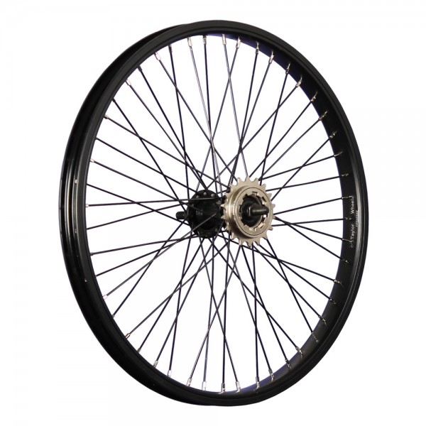 20 inch BMX rim rear wheel 48 holes black with 18 teeth sprocket
