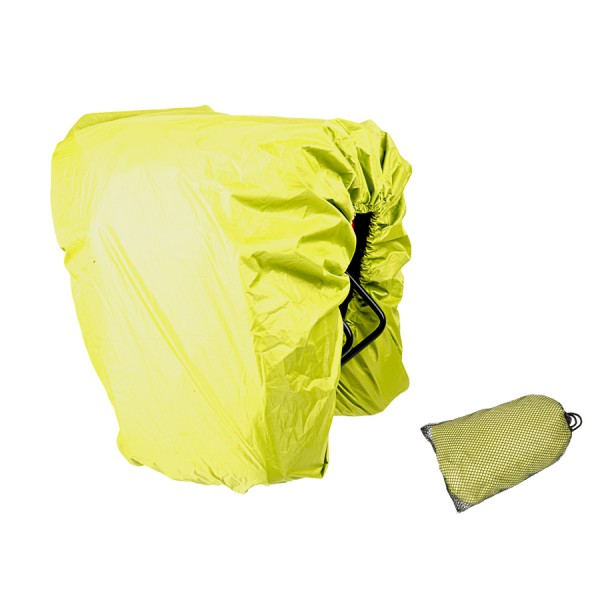 Bike rain protection A-O30 for pannier carrier bags waterproof neongreen