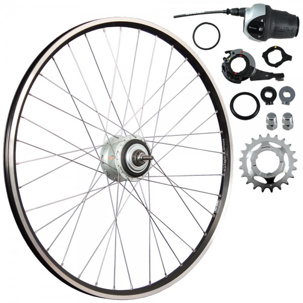 28inch bike rear wheel ZAC2000 with Nexus Inter-8 622-19 black