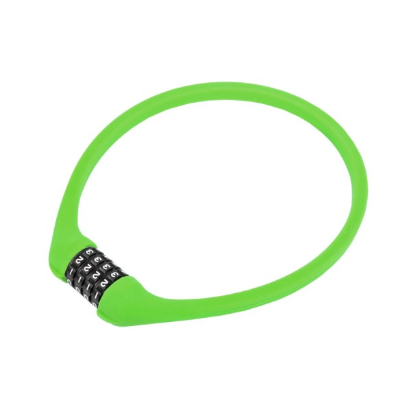 Bicycle cipher lock ACL-77 600mm steel cable universal silicone green
