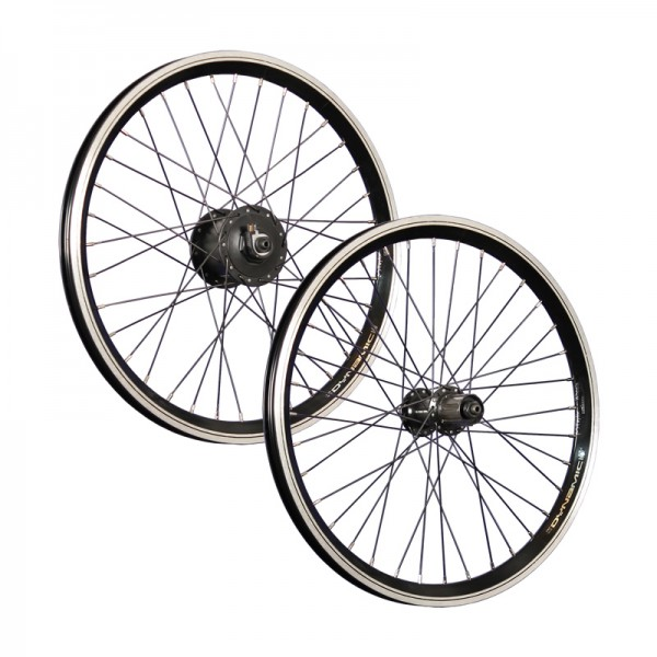 20inch bike wheel set Shimano Dynamo DH-C3000 FH TX500 7-10 black