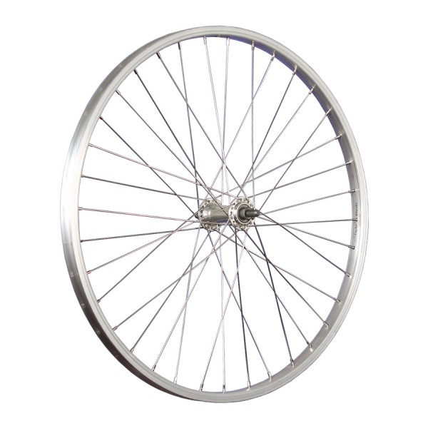 24inch bike front wheel kids aluminium stainless steel 507-19 silver