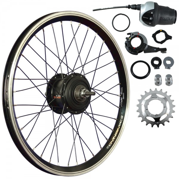 20inch bike rear wheel double-wall rim Shimano Inter 8 hub black