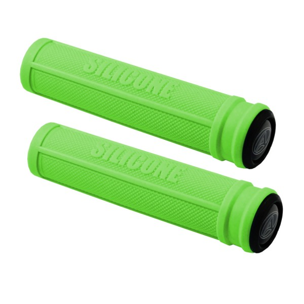 Bicycle handlebar grips AGR Silicone 130mm 22,2mm green universal