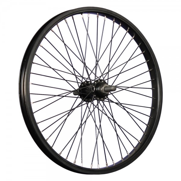 20 inch BMX bike rear wheel single wall 48 holes axle 14mm black