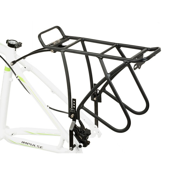 Bicycle pannier rack ACR-50 aluminum 26-29 inch to 25 Kg for Disc black