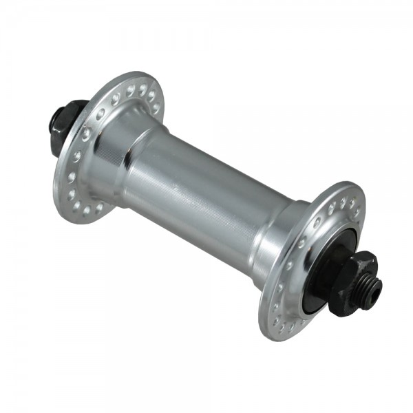 Front wheel hub with quick release skewer 36 silver
