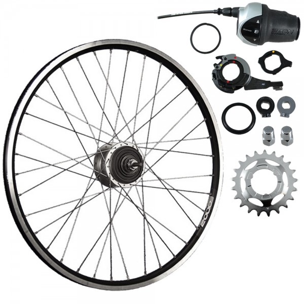 26inch bike rear wheel ZAC2000 with Shimano Nexus Inter-8 black