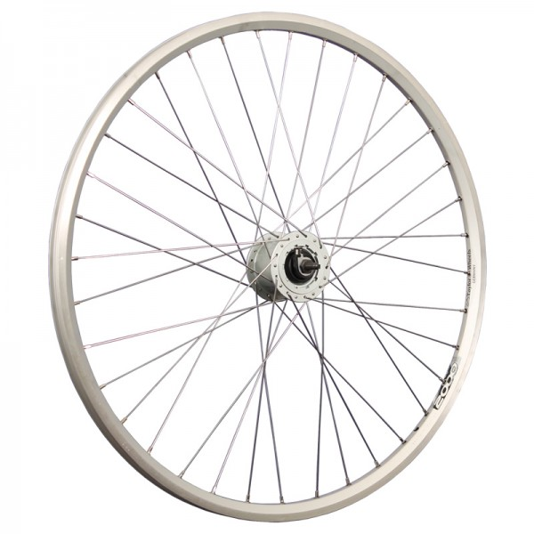 28inch bike front wheel ZAC2000 hub dynamo for rollerbrake silver