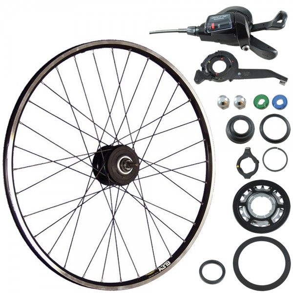 28inch bike rear wheel A319 ALFINE 11speed disc black 36 holes