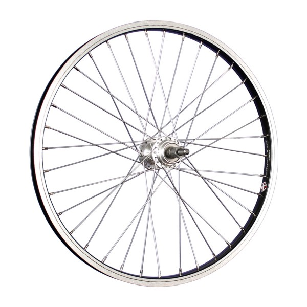 20inch bike rear wheel aluminium for cogset stainless steel 406-19 black