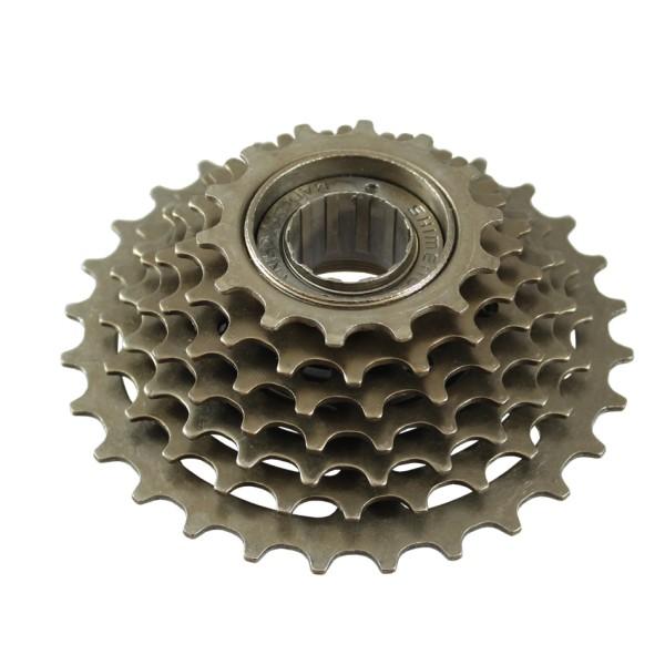 Bicycle freewheel thread-on 7 speed Mijnen Pieper 14-28 teeth with freewheel silver