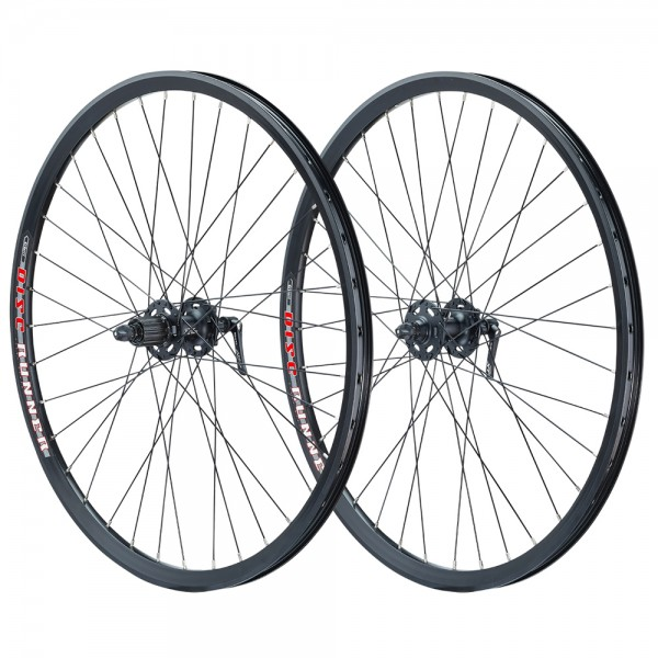 Vuelta 27.5 inch wheelset set DC19 eyed Shimano Deore XT 756 black disc 6 holes