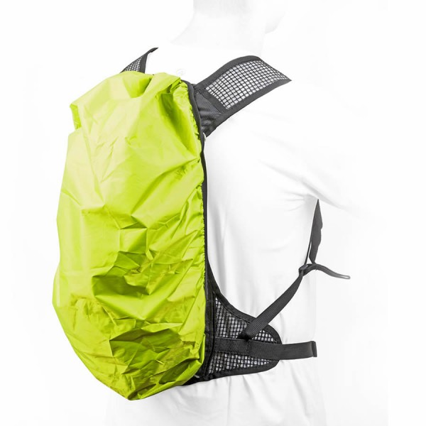 Bike Trekking rain protection A-O21 for backpack waterproof green-yellow