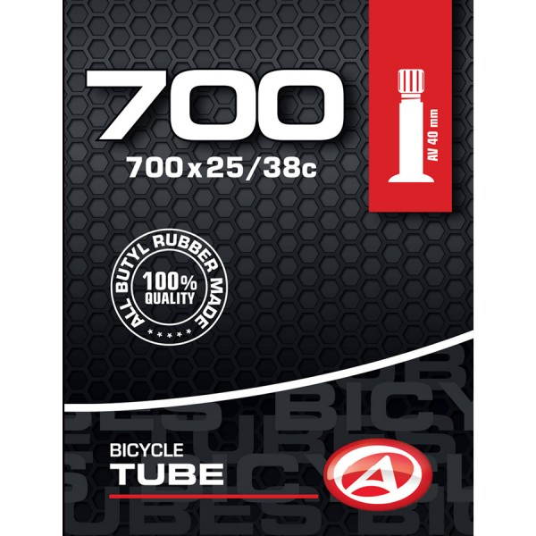 Bicycle tube 28 inch AV Schrader valve 40mm 25/38-622 Trekking City