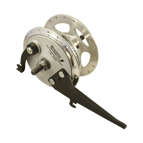 front wheel hub XL-FD with drum brake silver