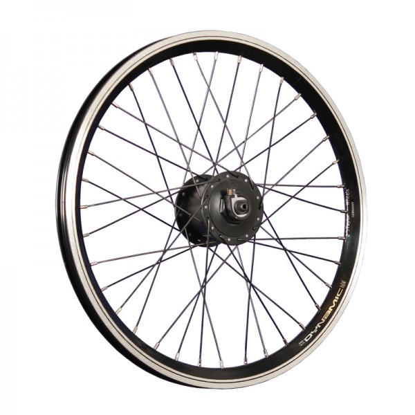 20inch bike front wheel double-wall rim hub dynamo black