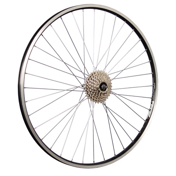 28inch bike rear wheel ZAC19 freewheel 8 speed black
