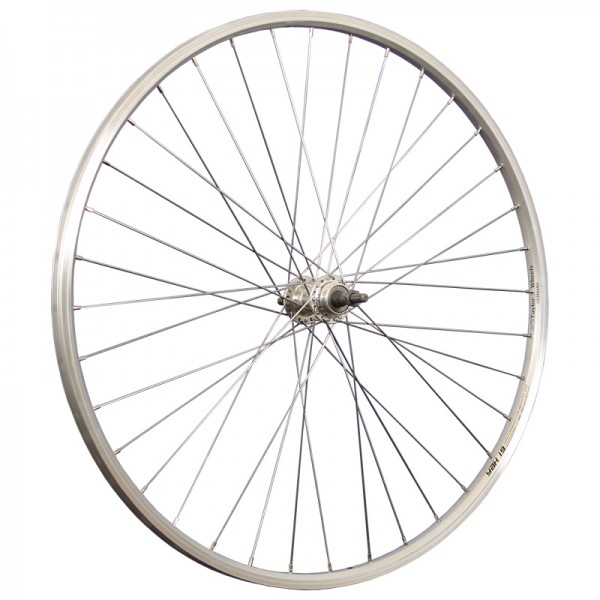28inch bike rear wheel double wall YAK19 stainless steel 622-19 silver
